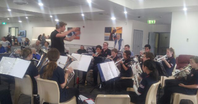 Hyde Street Youth Band entertains residents at TLC Marina