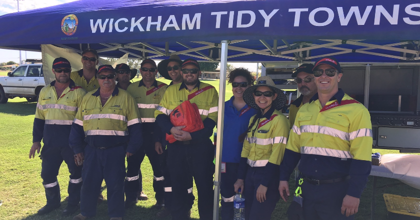 Sodexo Wickham Tidy Towns clean-up