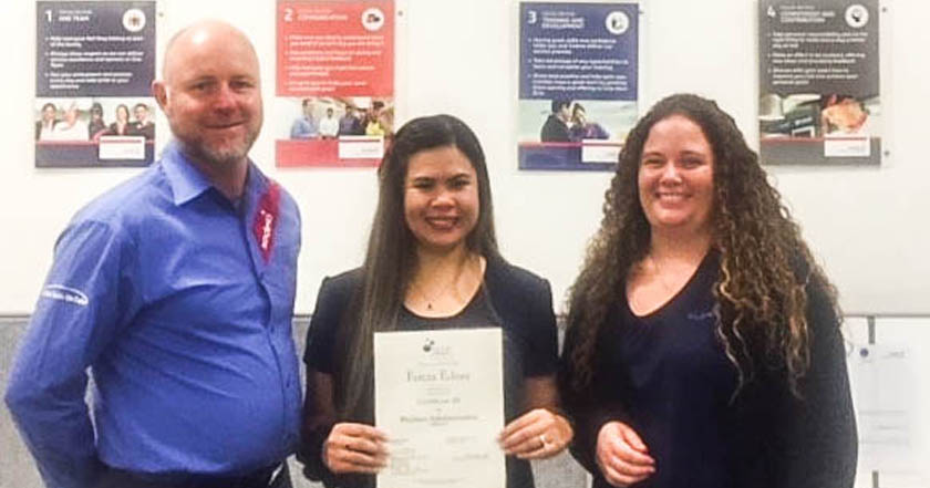 Employees of Wickham Village obtain nationally accredited qualifications