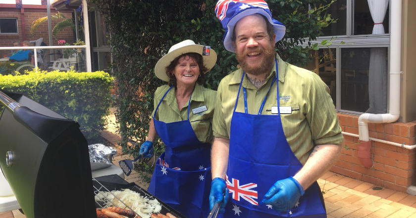 Senior residents treated to Australia Day celebrations