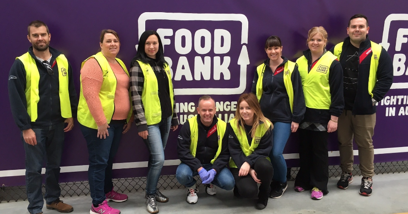 Perth Support Centre team volunteers to Stop Hunger
