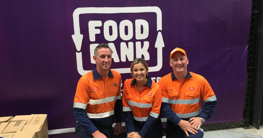 Mighty Morris team packs 2 tons at Foodbank