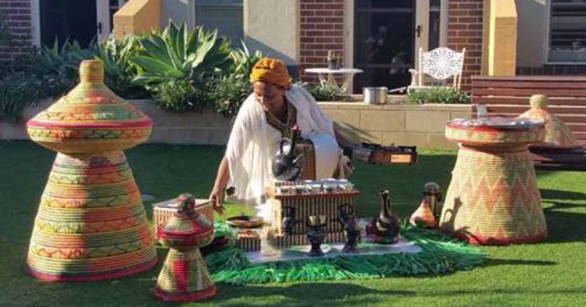 Ethiopian Coffee Ceremony at Uniting Care Arrunga