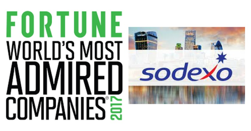 Sodexo in Fortune World's Most Admired Companies for 2017