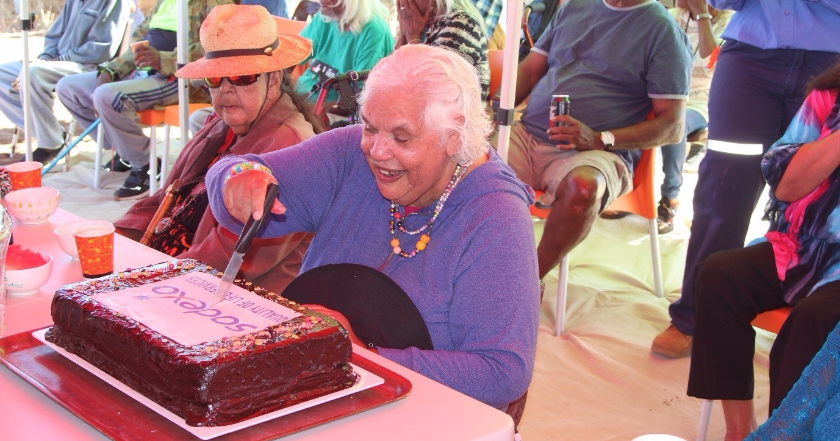Woodside celebrates Old People's Birthday