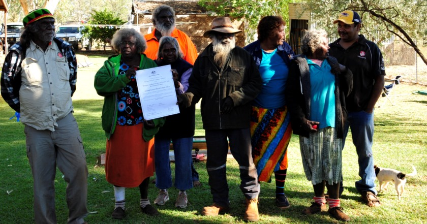 Exceptional service at the Matuwa Indigenous Protected Area (IPA) ceremony