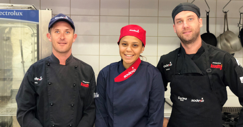 Apprentice Chef Tanika Warrell joins Sodexo Kuditj