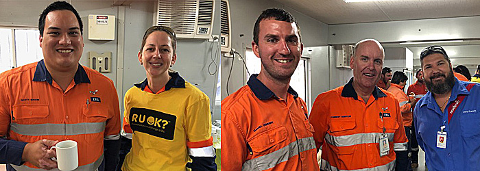 Catering on RUOK Day at the Ranger Mine Jabiru