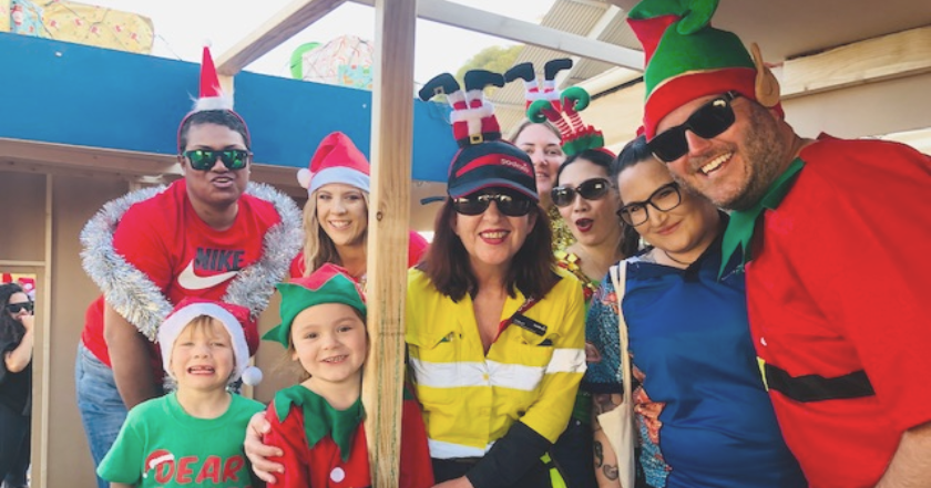 Sodexo Spirit on display at the Roxby Christmas Pageant